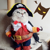 Ahoy Me Hearties Cat Pirate Costume