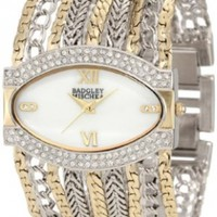 Badgley Mischka Women's BA/1203MPTT Swarovski Crystals Accented Two-Tone Multi-Chain Bracelet Watch