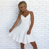 Dancing Days Skater Dress in White