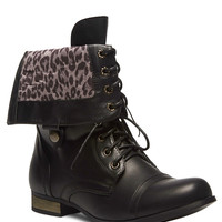 Foldover Combat Boots - Wide Width | Wet Seal+