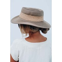 Beach Time Hat: Taupe/Natural