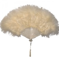Enchanted Garden Feather Fan (Ivory): Kirks Folly Online Web Store