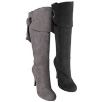 Journee Collection Womens Cuff Accent Mid-calf Boots