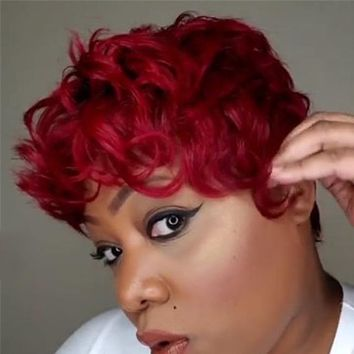 New style wig ladies personality short curly hair fluffy fake headgear