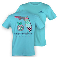 Simply Southern State Pride Tee - Baby Blue