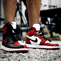 AJ 1 Air Jordan 1 Tide brand color matching high-top shoes