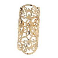 Gold Filigree Adjustable Ring