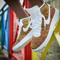 NIKE Air High Tops Rainbow Gradient  High Tops Trending Fashion Casual Sports Shoes G-AA-SDDSL-KHZHXMKH