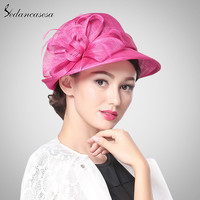Hot Pink Church Hat Philippines Sinamay Hats for Ascot Races,Mebourne Cup,wedding,Kentucky derby,Party