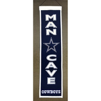 Dallas Cowboys NFL Man Cave Vertical Banner (8 x 32)