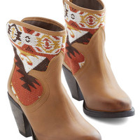 ModCloth Rustic Tapestry Your Feet Bootie