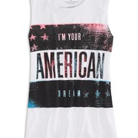 AEO Factory Women's Graphic Muscle Tank (White)