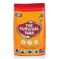 Survival Tabs 8-Day 96 Tabs Emergency Food Ration Survival MREs Food Replacement for Outdoor Activities Disaster Preparedness Gluten Free and Non-GMO 25 Years Shelf Life Long Term - Mixed Flavor