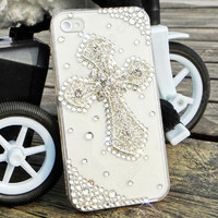 cross Pearl phone case iphone 4 case iphone 4s case
