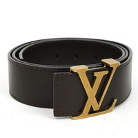 Louis Vuitton Utah Centuire Initials Belt Size 90 Brown M6902Q 100%Auth #4241