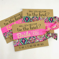 Will you help me Tie the Knot | Bridesmaid Proposal  To have and to hold | Boho