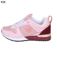 LV tide brand men and women models simple retro wild mesh breathable sneakers shoes #10