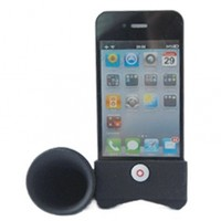 Horn Stand Speaker Loudspeaker For Apple iPhone 4 4G Black