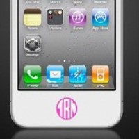 iphone Home Button Monogram Decal Sticker