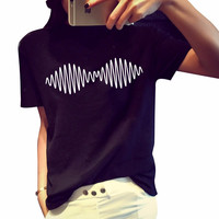 Arctic Monkeys Sound Wave Shirt T Shirt Indie Rock And Roll Band Cotton Casual Loose European Size t-shirt Tee