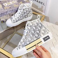 Christian Dior new letter print mens and womens high-top sneakers Shoes