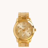 FOREVER 21 Classic Oversized Watch Gold One