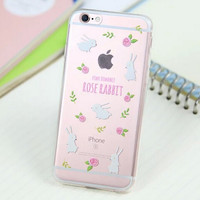 Cute Rabbit Cover Case for iPhone 5s 5se 6 6s Plus Gift 318