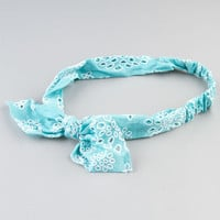 Full Tilt Bandana Knot Headwrap Turquoise One Size For Women 23553924101