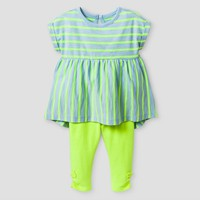 Baby Girls' 2-Piece Tunic and Legging Set Cat & Jack™ - Superb Yellow : Target