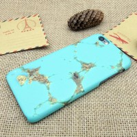 Mint Marble Best Protection iPhone 7 7 Plus & iPhone 6 6s Plus & iPhone 5s se Case Personal Tailor Cover + Gift Box-170928
