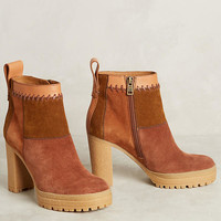 See By Chloe Patchwork Platform Boots