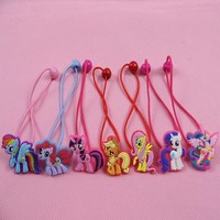 Fashion Baby Children Cute my little pony Cartoon Hair Rope multi-color 2pcs lot Girls Hairpins