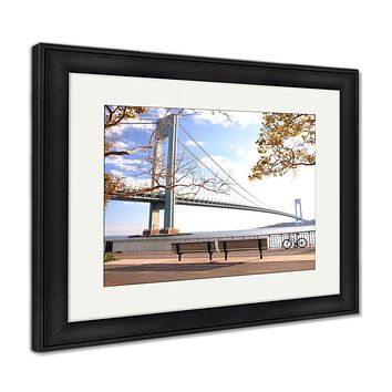 Framed Print, Bicycle In The Autumn Park