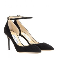 Lucy 85 suede pumps