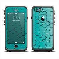 The Teal Hexagon Pattern Apple iPhone 6 LifeProof Fre Case Skin Set