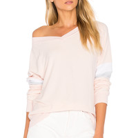Wildfox Couture Soft Long Sleeve Tee in Pink Gloss | REVOLVE