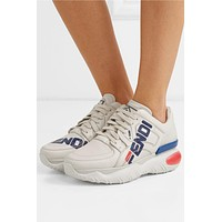 Fendi Logo-print Leather And Rubber Sneakers #878