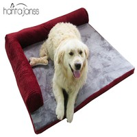 HANTAJANSS Thickened Pet Dog bed Sofa Mat Comfortable Detachable Deign Resistance To Bite Large Dog Cat Bed Indoor Pet House