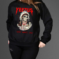 Kanye West Yeezus Sweatshirt Black Unisex Clothing High Quality tee S,M,L and XL (Y9)