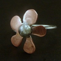 Copper and Sterling Ring - Any Size - Made to Order