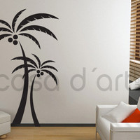 Florals and tribal flowers decals - Palm tree - Wall Decals , Home WallArt Decals