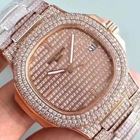 cc kuyou Patek P FULL ROSE DIAMOND 324SC Movement