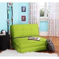 your zone Flip Chair Out Convertible Sleeper Bed Couch Lounger Sofa Adjustable