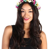 Multi Color Flower Crown Headband