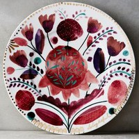 Harvest Foliage Side Plate by Anthropologie in Multi Size: Side Plate Vests
