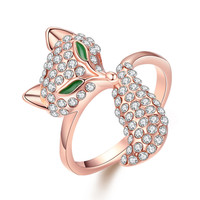 Fox 18k Rose Gold Plated Ring