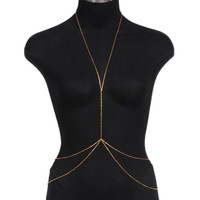 Gold Dainty Double Layer Body Chain