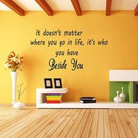 Wall Decals Quotes Vinyl Sticker Decal Quote It doesn't matter where you go in life Phrase Home Decor Bedroom Art Design Interior NS72