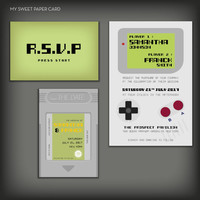 Nintendo game boy wedding invitation geeky wedding Save the Date, Wedding Stationery, Wedding Invitation, nintendo invitation - DEPOSIT