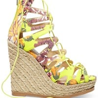 Steve Madden Women's Theea Ghillie Platform Wedge Sandals